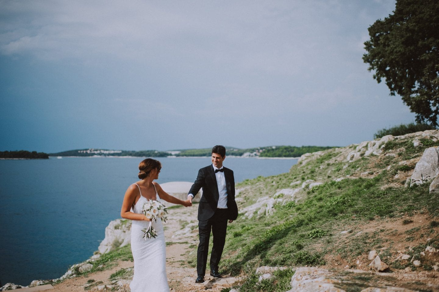 fabulous red island wedding in rovinj