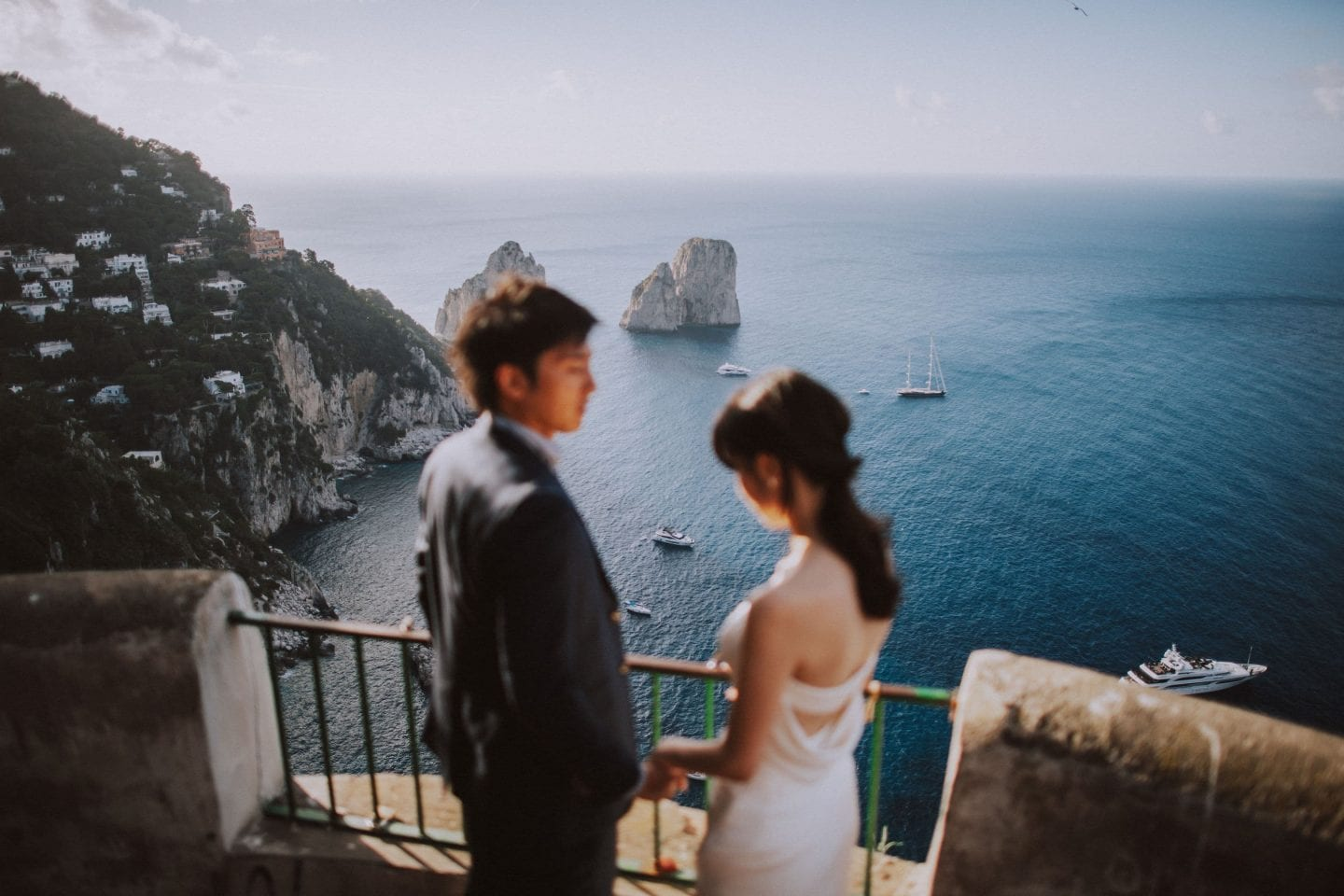 romantic honeymoon shooting capri island photographer capri