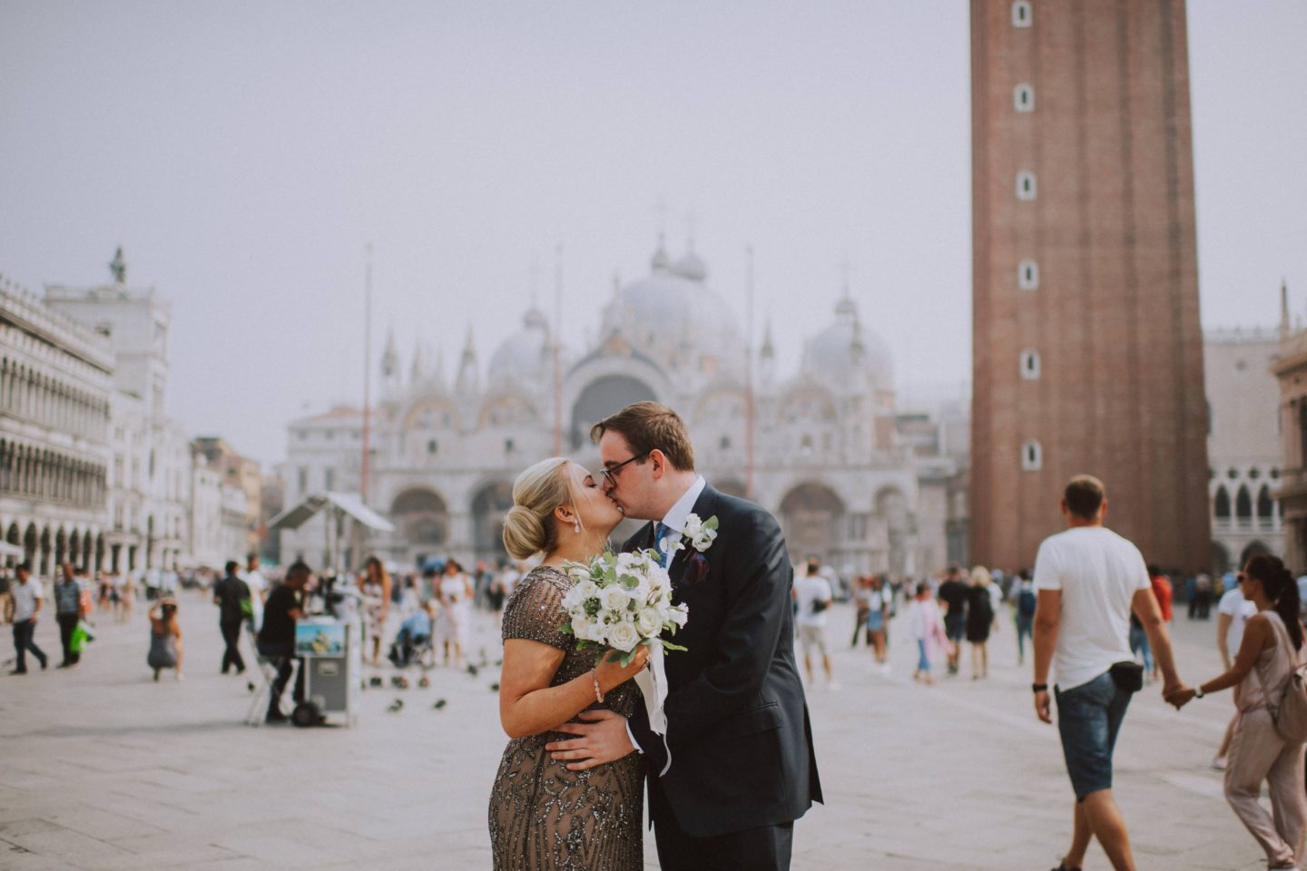 best places weddings honeymoon engagement photos venice st marks square bell tower