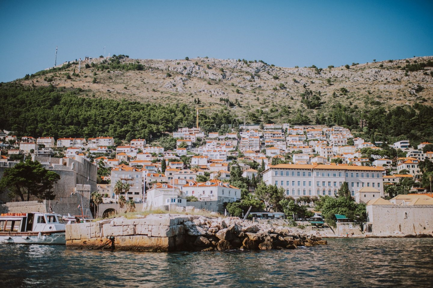 dubrovnik elegant rustic wedding at villa rose kolocep island